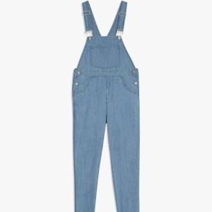 NWT WEWOREWHAT Basic Linen Overalls